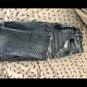 American Eagle Outfitters Distressed Mom Jeans